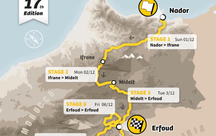 Raid Marruecos   Maroc Challenge   Mapa winter 2019